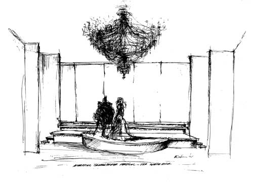 Peter Wexler - sketch of White House stage from the NY Times front page 1961