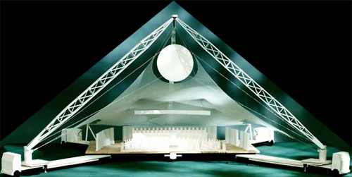 Peter Wexler - The Carlos Moseley Music Pavilion - The Metropolitan Opera Association and the New York Philharmonic - Project leadership in design and planning - Model 1990